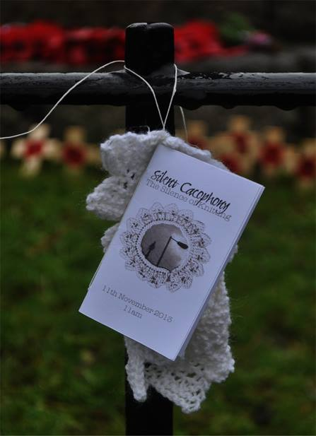 Shamrock Lace, made in silence and placed at Ticehurst War Memorial, East Sussex